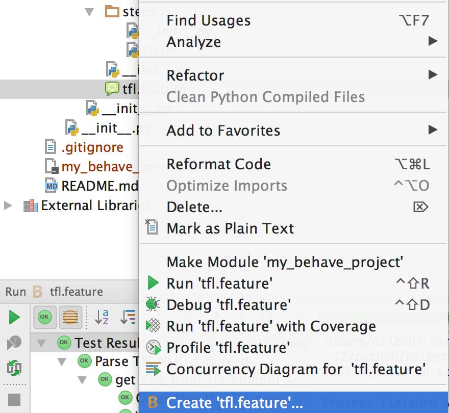 Create B run configuration